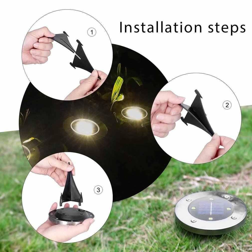 8 adet 8LED güneş enerjisi gömülü ışık altında zemin lambası açık yol bahçe zemin kaplaması