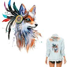 1Pcs Fox Patches For Clothing Colorful Patch T-shirt Dresses Sweater DIY Accessory Decoration A-level Washable Appliqued