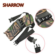 1pc Archery 4 Tube Arrow Quiver Hip Waist Holder Bag Waist Hip Back Belt Portable Field Quiver For Hunting Shooting Accessories цена и фото