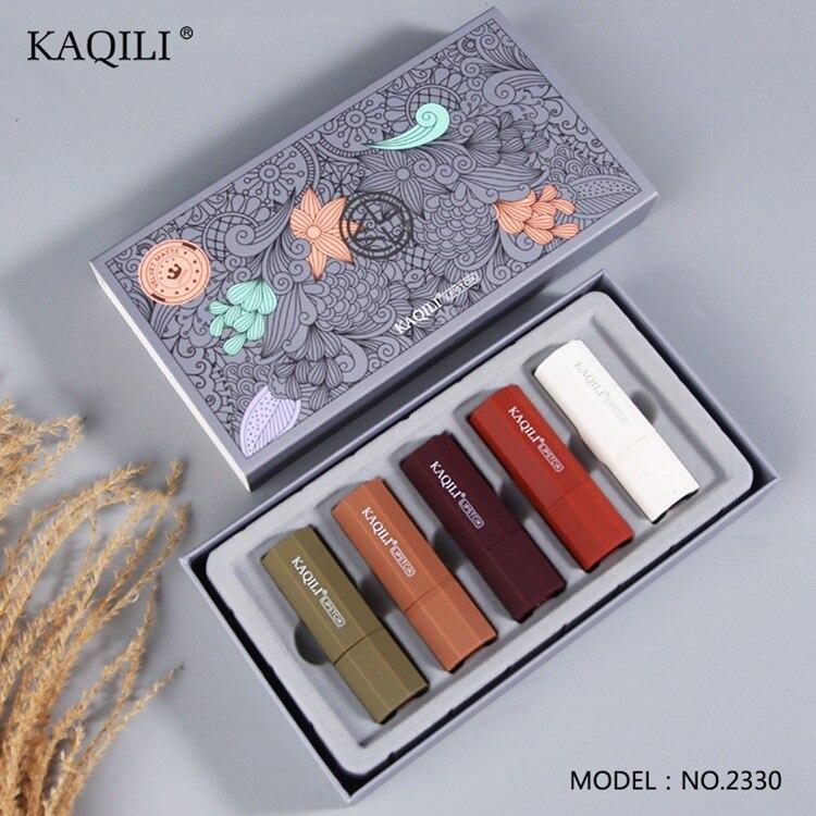 Velvet Mousse Lipstick Velvet Fog Surface Matte 5 Gift Box Lipstick Kit