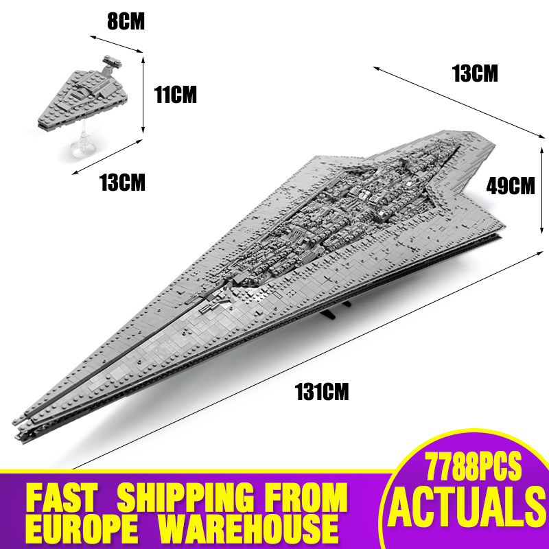 05028 Star Toys Wars Compatible With Legoing MOC-15881 Executor Class Star Dreadnought Star Destroyer Building Blocks Kids Gifts