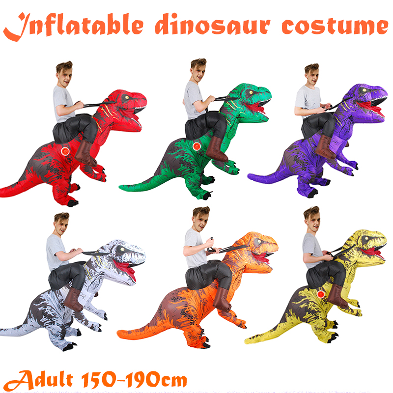 Halloween Inflatable Dinosaur Costume for Adult Rider T-Rex Cosplay Party Dress