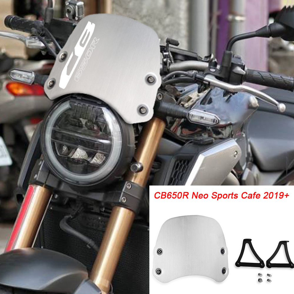 CB650R Motorcycle Accessories CNC Aluminum  Windshield Windscreen Deflectors FOR HONDA CB 650R CB650R Neo Sports Cafe 2019 2020