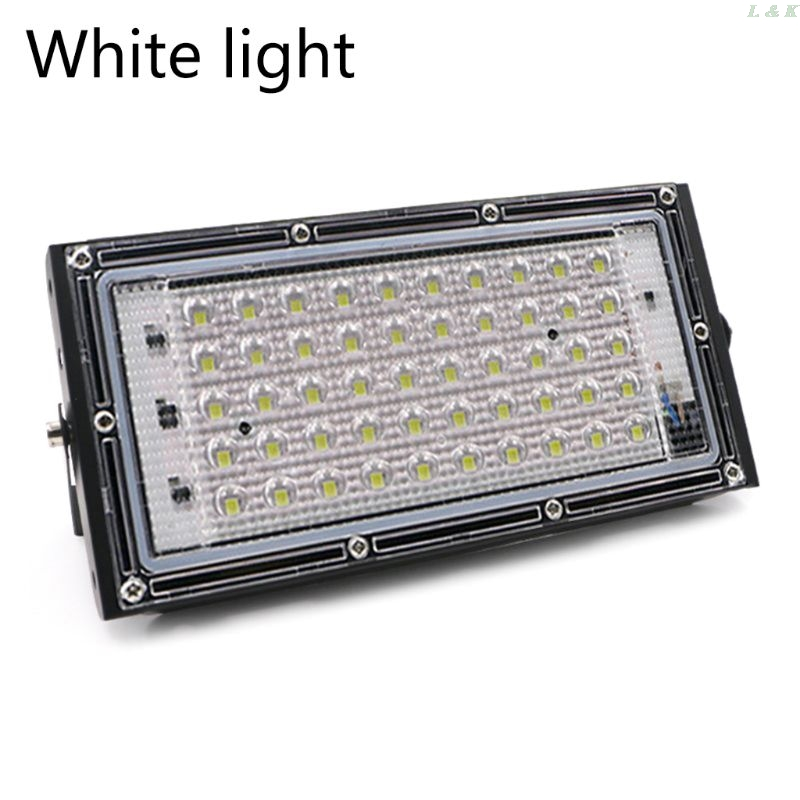 LED Floodlight Outdoor Spotlight 50W Wall Washer Lamp Reflector IP65 110V F1FC