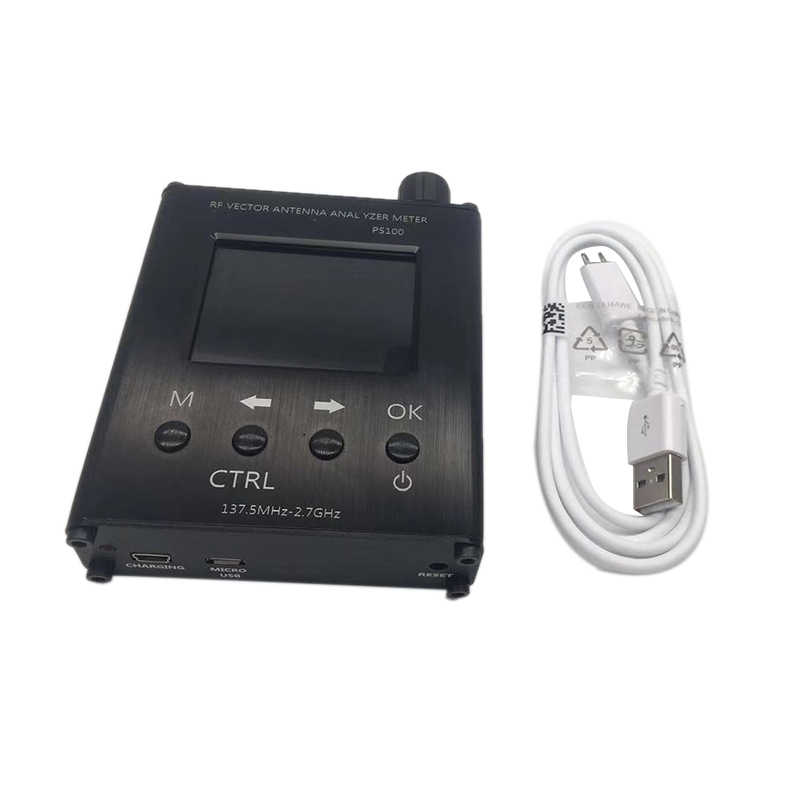 2,4 Zoll TFT PS100 N1201SA UV RF Vector Impedanz ANT SWR Antenna Analyzer Meter Tester 137,5 MHz-2,7 GHz