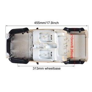 Image 3 - Jeep wrangler jk rubicon 4 portas, kit de concha de corpo rígido, 1/10mm, base de rodas para carros, axial scx10 90046 90047 rgt ex86100