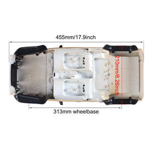 Image 3 - RC 1/10 Jeep Wrangler JK Rubicon 4 Kapı Sert Vücut Shell Kiti 313mm Dingil Mesafesi Paletli Arabalar Eksenel SCX10 90046 90047 RGT EX86100