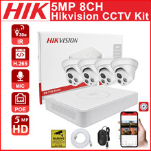 CCTV kit Hikvision 8CH 8+4 kit 5MP POE NVR Kit CCTV Security System Audio Motion Detect IP Camera Video Surveillance Camera