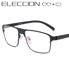 Prescription Glasses Frame Men 2019 New Full Metal Square Fr