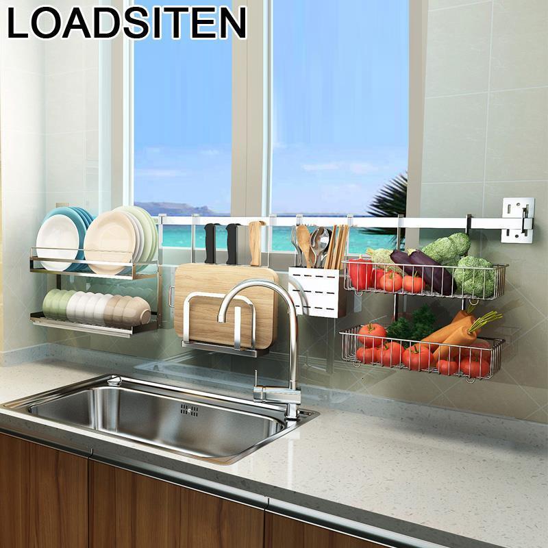 Pantry Organizador Sink Organization Escurridor De Platos Stainless Steel Rack Mutfak Cocina Cuisine Kitchen Organizer