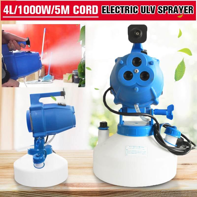 220V EU/UK/US 4L 1000W Electric ULV Fogger Sprayer Disinfection Sterilization Portable Mosquito Killer Farming Ultra Spray