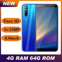 Globalna wersja 9C Face id unlocked 13MP smartfony 6.0 ''pełny ekran 4GB RAM 64GB ROM Android telefony komórkowe telefony komórkowe Celulars