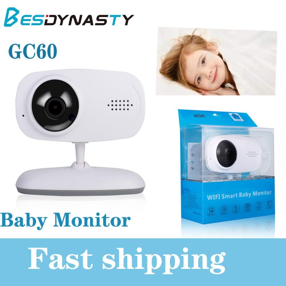 GC60 Video Baby Monitor Video Color Monitor LCD Babysitter Night Vision Security Camera TF Card APP 2 Way Talk Smart Monitor image