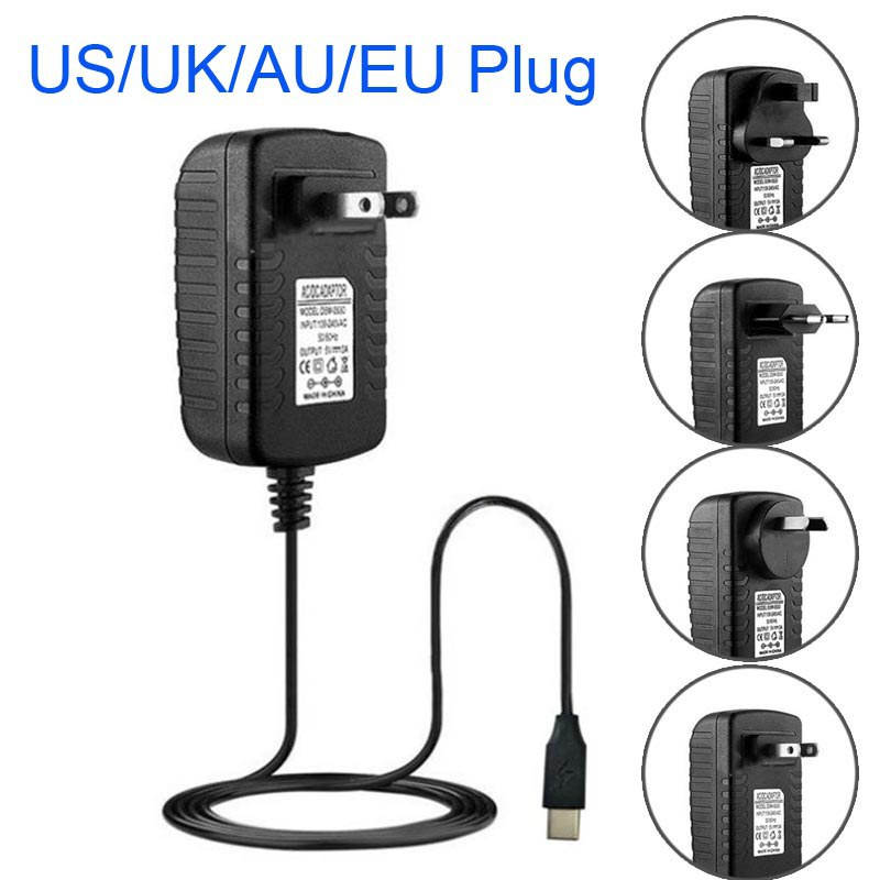 For Raspberry Pi 4 USB Type C Power Adapter USB C Power Charger 100-240V EU US UK AU Plug Power Supply 1.2m Cable