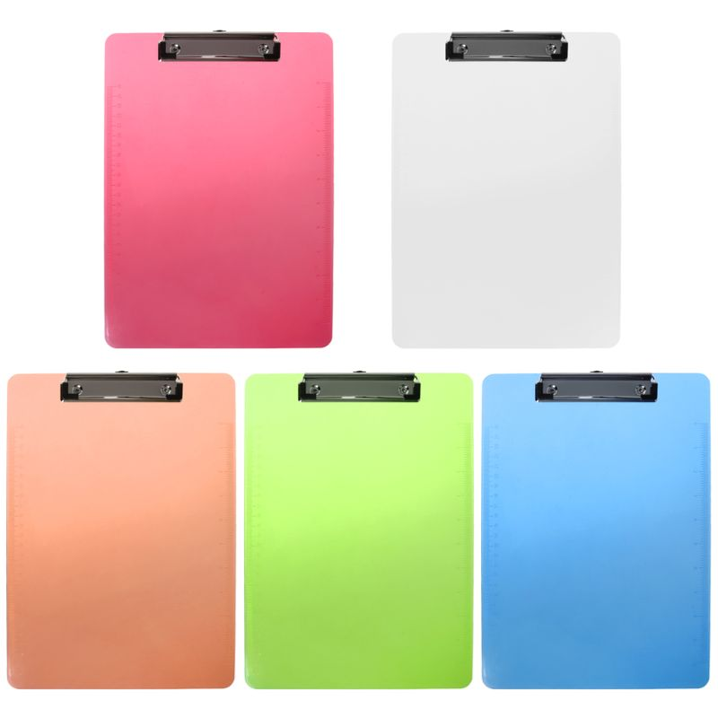 Plastic Clipboard Pad Clip Folder Document Transparent Holder Plate For Paper A4