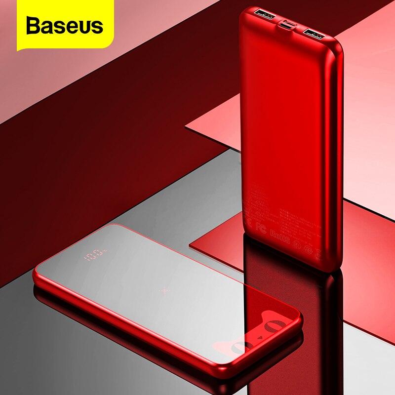Baseus Tmall Chat 10000mAh Portable Qi Sans Fil Chargeur de batterie externe Pour iPhone 11 Pro Max Xiao mi mi 9 Externe chargeur de batterie Portable