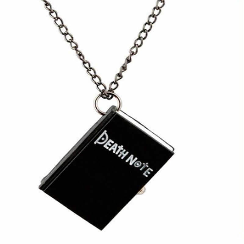 Anime Death Note 포켓 시계 빈티지 여성 남성 시계 시계 목걸이 체인 포켓 독특한 청동 플립 커버 석영 시계 주머니 시계