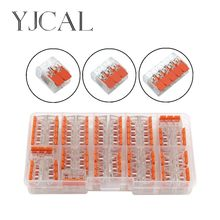 YJCAL 221- 412, 413, 415 28 unids/caja de alambre trasero conector de junta Clip conector rápido aislamiento bloque Terminal AWG 28-12