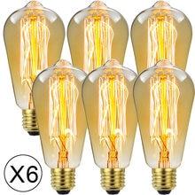 Лампа Эдисона tianfan винтажный декоративный светильник 6 шт/упаковка