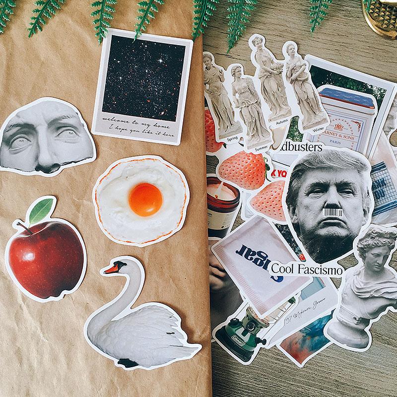22PCS Postmodern David Plaster Stickers Crafts And Scrapbooking Stickers Book Student Label Decorative Sticker DIY Stationery