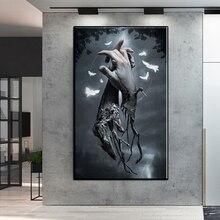 Холщовая картина с упитанным пальцем ручная роспись настенные