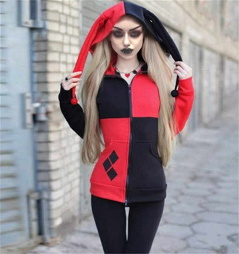 Women Hoodie Sweatshirts Halloween Jacket Cosplay Women New Kawaii Outwear