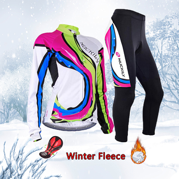 Frete grátis feminino inverno ciclismo conjunto jérsei 2020 velo térmico roupas de bicicleta mtb skinsuit feminino roupas uniforme kit 1