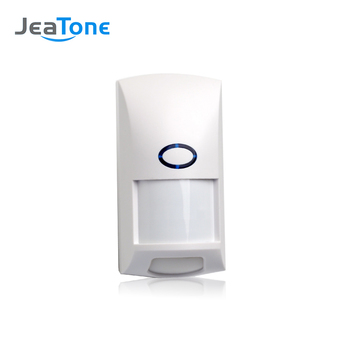 Jeatone Wireless PIR sensor Infrared Motion Detector 433Mhz pet Immune Waterproof for Home Security Alarm System