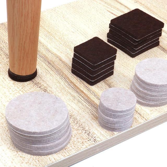 18-128 pcs Felt Chair Leg Pads 5mm Thick  Floor Scratch Protector Mat Mute Non-slip Self Adhesive DIY Furniture Accessories