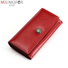 Genuine Cow Leather Women Wallets Vintage Long Wallet with Zipper Pocket Rfid High-capacity Soft Cowhide Female Purse Billfold new arrival high quality leather wallet oil wax cowhide billfold women s genuine leather purse long zipper wallets coin pocket