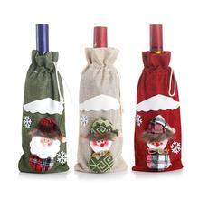 Cloth Christmas Wine Bottle Cover Santa Claus/Elk/Snowman Bottle Cover Christmas Decorations Wine Bottle Sleeves Home Decor цена в Москве и Питере