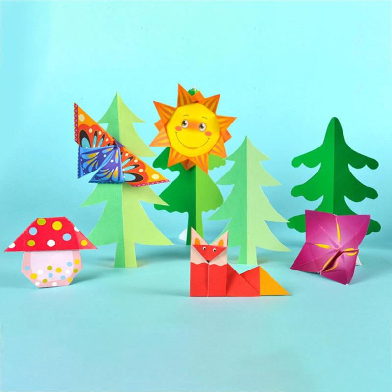 Lovely DIY Handmade 3D Puzzle Crafts Origami Book For Educational Toy Parent-child Interaction Closely United Thinking