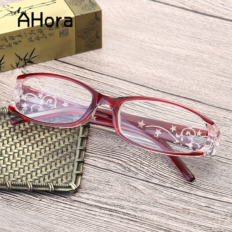 Ahora роскошные женские хрустальные очки для чтения женские прозрачные линзы для дальнозоркости очки + 1,0 + 1,5 + 2,0 + 2,5 + 3,0 + 3,5 + 4,0