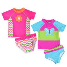 Girls Swimsuit 2019 Two Pieces Toddler Girls Swimwear 1-6Y Children #8217 s Swimwear Bathing Suit Swimwear UPF 50+ CZ1010 cheap XABER KIN spandex NYLON Fits true to size take your normal size striped