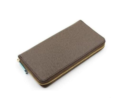 2019 New Fashion Real Leather Wallet Zippy Wallet With Box Free Shipping