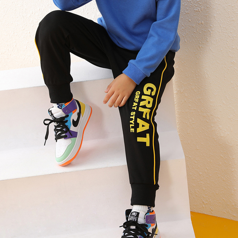 New Kids Boys Girls Pants Sports For 3-10 Yeas Fashion Print Letter Casual Sport Cotton Children Trousers Running Autumn Winter 5