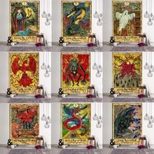 Tapisserie murale avec motif Mandala, pour plage et pour lune, style bohème, style bohème et psychédélique, pour décoration de maison