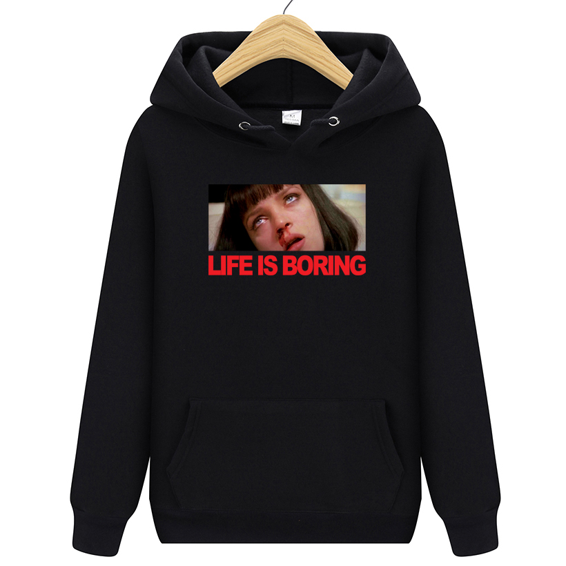 Brand <font><b>Clothing</b></font> Life is Boring Fashion Hoody 2019 New Casual Men Hoodies Sweatshirts Printed Pullover Hoodie Cotton S-2XL image