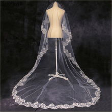 SERMENT Wholesale Bridal Veil Lace Edge One-Layer 1.5 M Shoulder Length White Wedding Accessories