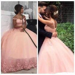 Vestidos de 15 anos quinceanera 2019 rendas apliques com decote em v oferecer o ombro vestido de baile elegante nova chegada sempre pertty nupcial