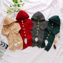Toddler Kids Baby Clothes Hooded Long Sleeve Boys Girls Knit