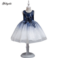 YOLIYOLEI-Baby Girls Party Dress new Elegant Girl Evening Dress