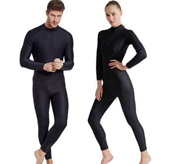 KOMAY 2MM diving suit thick warm long-sleeved one-piece swimsuit cold-proof scratch-proof thorn surfing couple diving suit