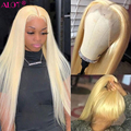 613 фронтальные человеческие волосы, парики с детскими волосами, предварительно отобранные, бесклеевые, бразильские, прямые, 613 блонд/серый, п...