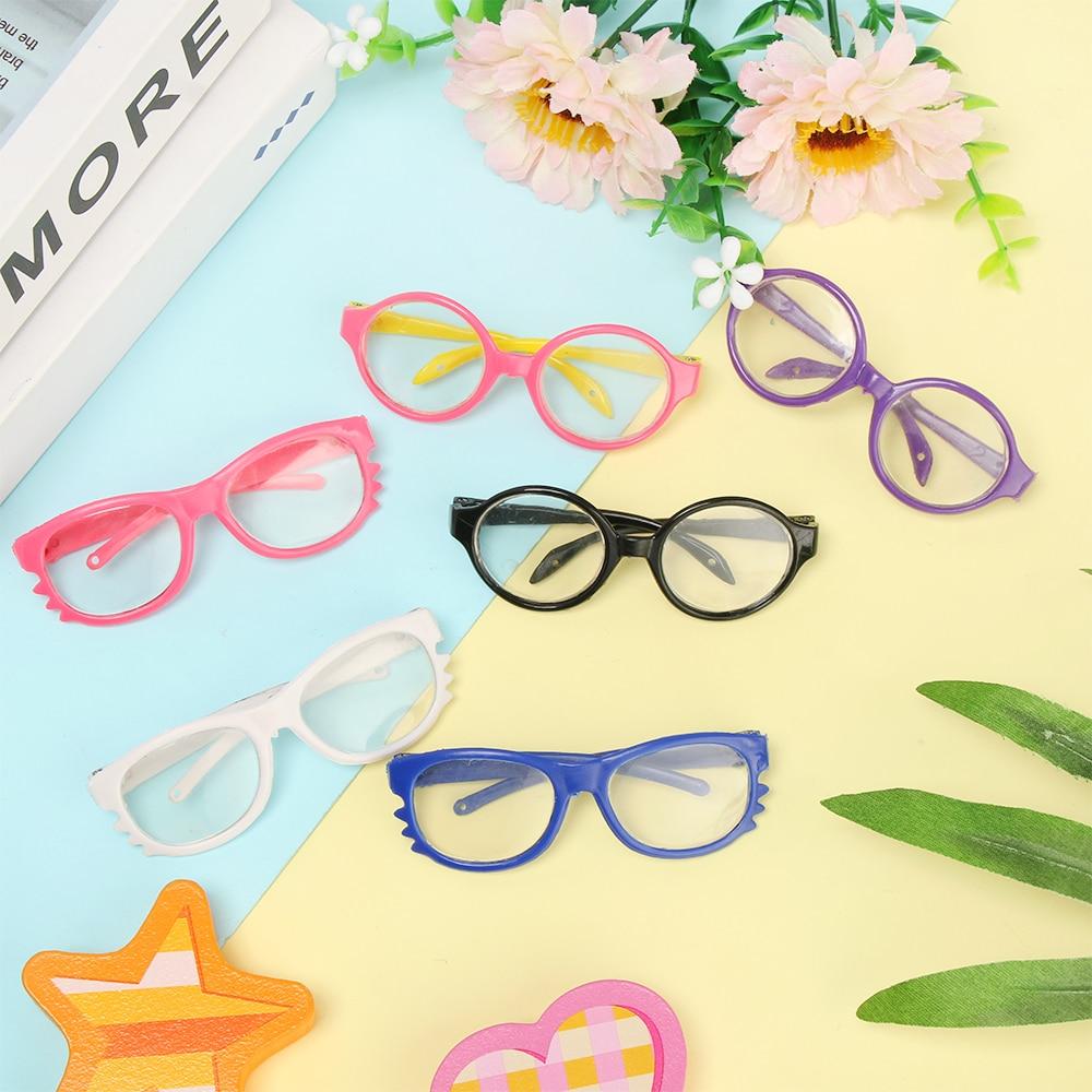 Круглый оправа очки для 18 дюймов кукла игрушка миниатюра очки мини красочный кукла очки очки игрушки кукла очки