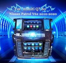 Автомагнитола с двойным экраном, автомобильный DVD-плеер Streo для infiniti QX80, Nissan патруль Y62 2010-2020, автомобильная стереосистема с GPS-навигацией