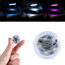 Portable Car Mini Led Lights Touch Switch Car Ambient Lamp Interior Night Light Wireless White/blue/purple Lamps
