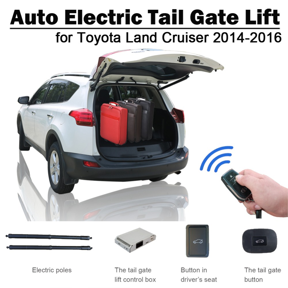 Auto Electric Tail Gate Lift For Toyota Land Cruiser 2014-2016 With Electric Suction Drive Seat Button Control Set Height