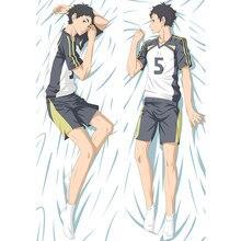 Anime Haikyu pillow Cover hinata shoyo Dakimakura case Sexy girl Cool Boy 3D Double sided Bedding