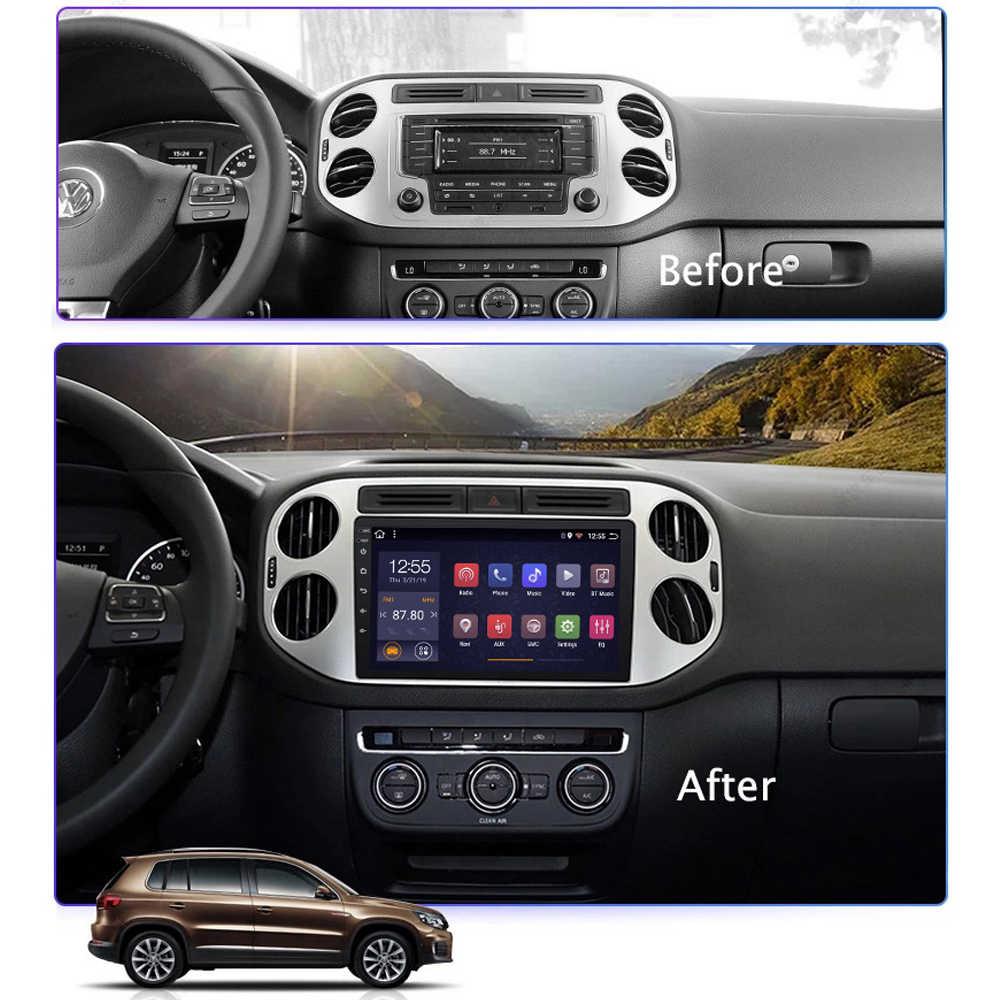 Rádio do carro para tiguan 2010 2011 2012-2018 sistema de navegação gps multimídia player suporte iphone carplay swc wifi mult-idioma